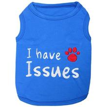 I Have Issues Dog Tank by Parisian Pet - Blue