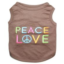 Peace Love Dog Tank by Parisian Pet - Brown