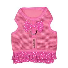 Parisian Pet Polka Dot Dog Harness Dress - Pink