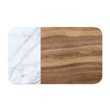 Acacia Wood and Carrara Marble Pet Placemat by TarHong