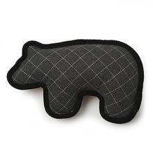 Acadia Felt & Sherpa Bear Dog Toy - Gray