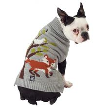Acadia Fox Dog Sweater - Silver Heather