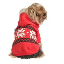Snowflake Dog Hoodie by Ruffluv NYC - Red