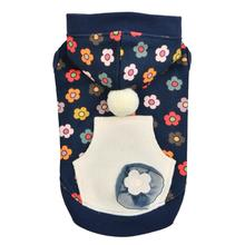 Aconite Hooded Dog Shirt by Pinkaholic - Navy