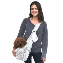 Fur Baby Adjustable Sling Bag Dog Carrier - Frosted Snow Leopard