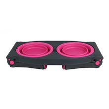 Adjustable Pet Feeder by Popware - Pink