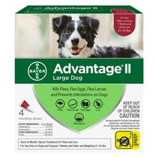 Advantage II Flea Control Dog Treatment - 4 Month Supply