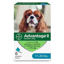 Advantage II Flea Control Dog Treatment - 6 Month Supply