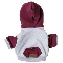Road Trip Dog Hoodie by Dog Threads - Burgundy