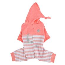 Aerglo Hooded Dog Jumpsuit by Pinkaholic - Melange Pink
