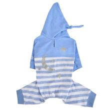 Aerglo Hooded Dog Jumpsuit by Pinkaholic - Melange Blue