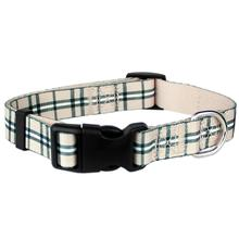 Scottish Plaid Dog Collar by Parisian Pet in Khaki