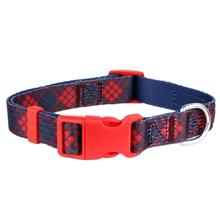 Scottish Plaid Dog Collar by Parisian Pet - Red/Blue