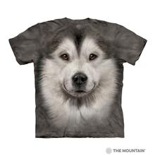 Alaskan Malamute Face Human T-Shirt by The Mountain