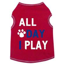 All Day I Play Dog Tank - Red