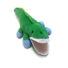 Alligator Safari Baby Pipsqueak Dog Toy By Oscar Newman - Blue