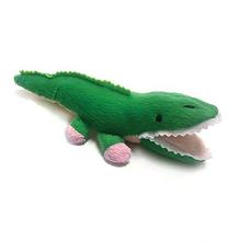 Alligator Safari Baby Pipsqueak Dog Toy By Oscar Newman - Pink