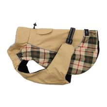 Alpine All-Weather Dog Coat by Doggie Design - Beige Plaid