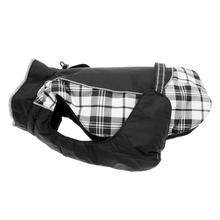 Alpine All Weather Dog Coat by Doggie Design - Black and White Plaid