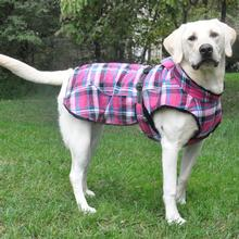 Alpine Flannel Dog Coat by Doggie Design - Raspberry Pink and Turquoise Plaid