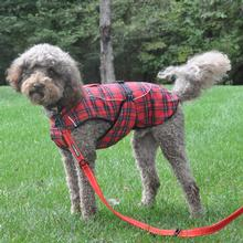 Alpine Flannel Dog Coat by Doggie Design - Red and Green Plaid