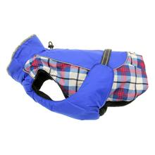 Alpine All-Weather Dog Coat by Doggie Design - Royal Blue Plaid