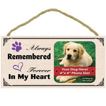 Always Remembered Forever in my Heart Wood Frame Sign with Photo Slot