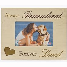 Always Remembered.. Picture Frame by Dog Speak