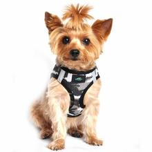 American River Camo Choke Free Dog Harness by Doggie Design - Gray