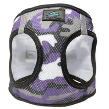 American River Camo Choke Free Dog Harness by Doggie Design - Purple