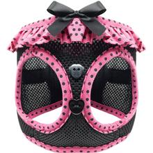 American River Choke-Free Dog Harness by Doggie Design - Hot Pink & Black Polka Dot