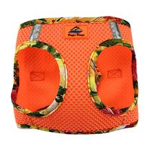 American River Hawaiian Trim Choke-Free Dog Harness by Doggie Design - Sunset Orange