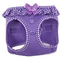 American River Choke-Free Dog Harness by Doggie Design - Purple Polka Dot