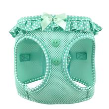 American River Choke-Free Dog Harness by Doggie Design - Teal Polka Dot