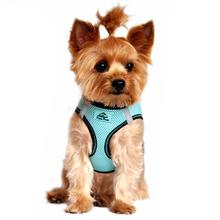 American River Top Stitch Dog Harness by Doggie Design - Aruba Blue