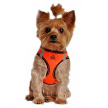 American River Top Stitch Dog Harness by Doggie Design - Iridescent Orange