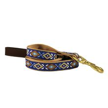 American Traditions Leather and Ribbon Dog Leash - Aztec