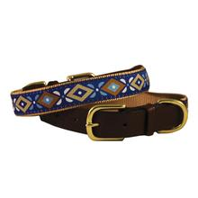 American Traditions Leather and Ribbon Dog Collar - Aztec
