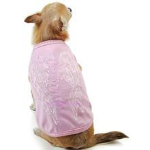 Angel Wings Dog T-Shirt By Oscar Newman - Pink