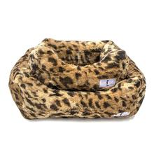 Animal Print Luxe Dog Bed by Hello Doggie - King Leopard