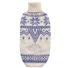 Snowflake Alpaca Dog Sweater by Alqo Wasi - Light Blue