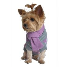 Argyle Acrylic Dog Sweater with Matching Scarf