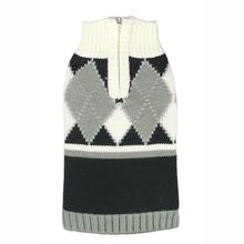 Argyle Dog Sweater by Hip Doggie - Gray