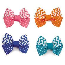 Aria Cute Chevron Dog Bows