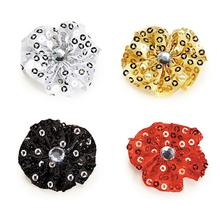Aria Sequin Rosette Dog Bows with Rhinestone