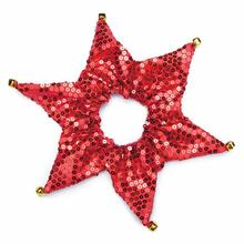 Aria Shimmer Sequin Dog Scrunchy - Red