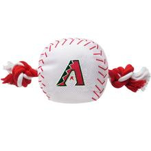 Arizona Diamondbacks Nylon Plush Baseball Rope Dog Toy