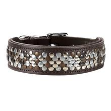 Arizona Studded Leather Dog Collar by HUNTER - Brown