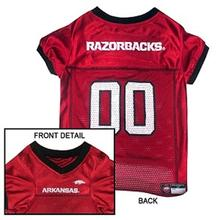 Arkansas Razorbacks Dog Jersey - Red with Black Trim