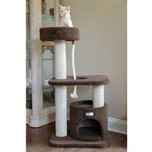 Armarkat 37-inch Premium Carpeted Cat Tree - Brown